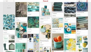 Teal is another favourite colour of mine - it always make me feel calm and relaxed and I love the combinations on this board, with highlights of yellow or orange. They really give the imagery a boost and bring them to life. Lovely