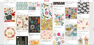 A screen shot of some patterns from my pinterest boards
