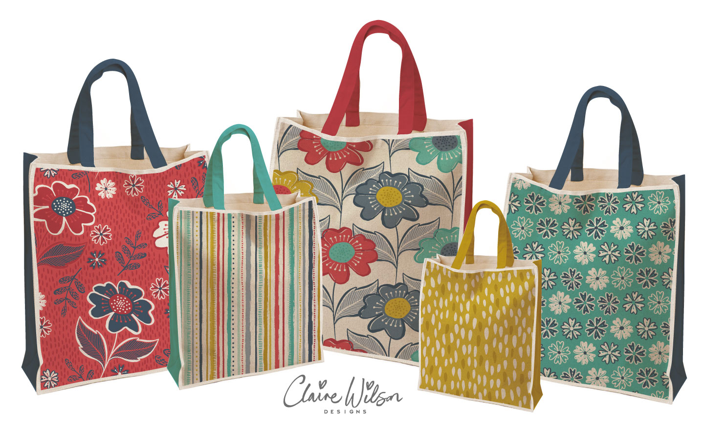 CWD_Floral Vase 5 Shopping bags