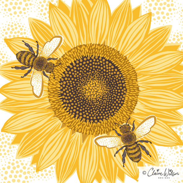 CWD_Sunflower Bees-01