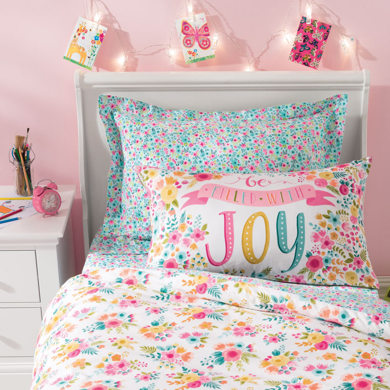 DUNELM FRIENDS AND FLOWERS BEDDING
