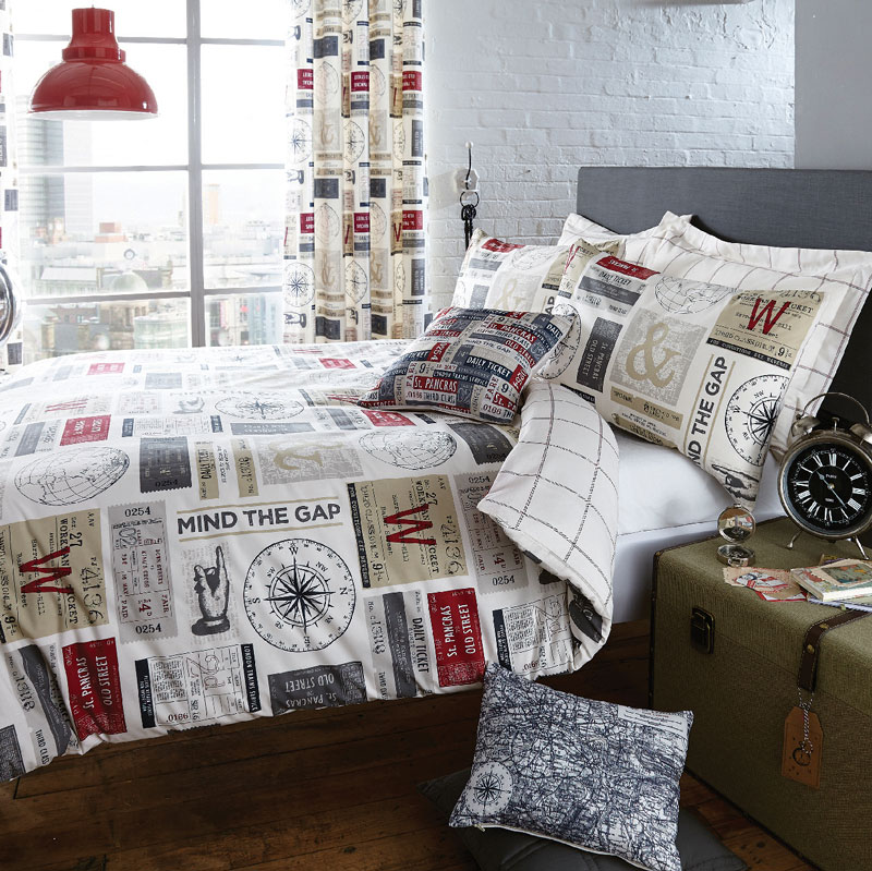 DUN-RETRO-SALVAGE-TICKET-BEDDING