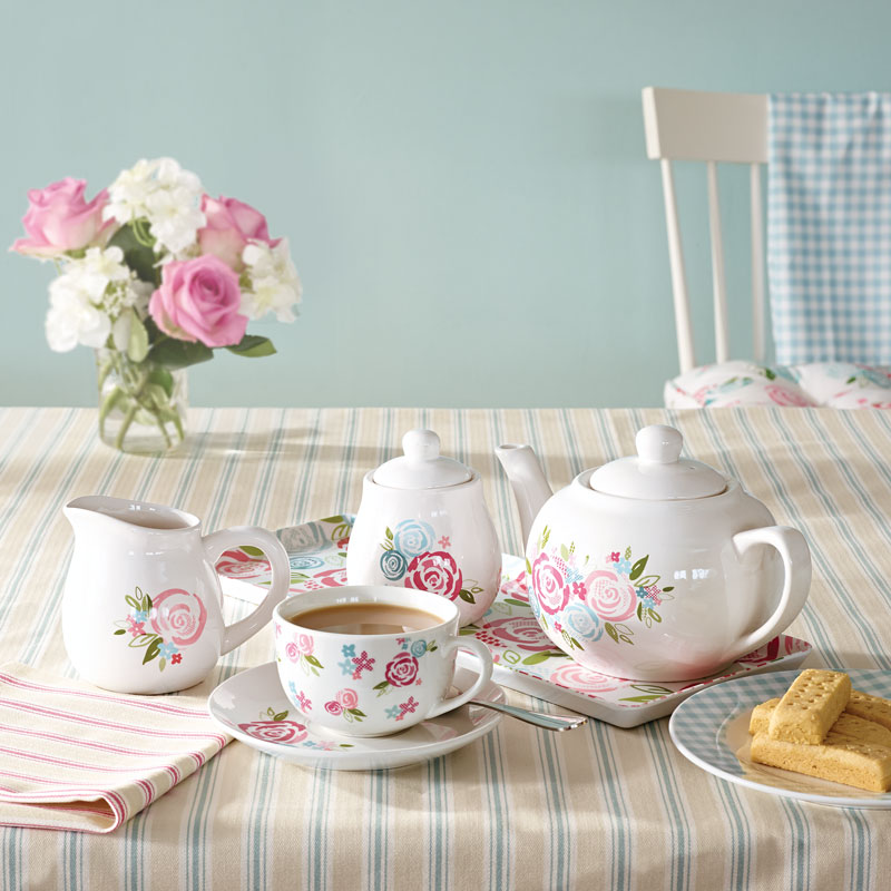 DUNELM-CANDY-ROSE-TEA-SET