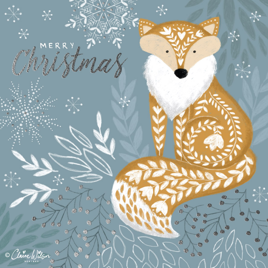 CWD_Christmas Folk Fox copyright-01